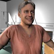 Sağlık Personeli Erkek 12 3d model
