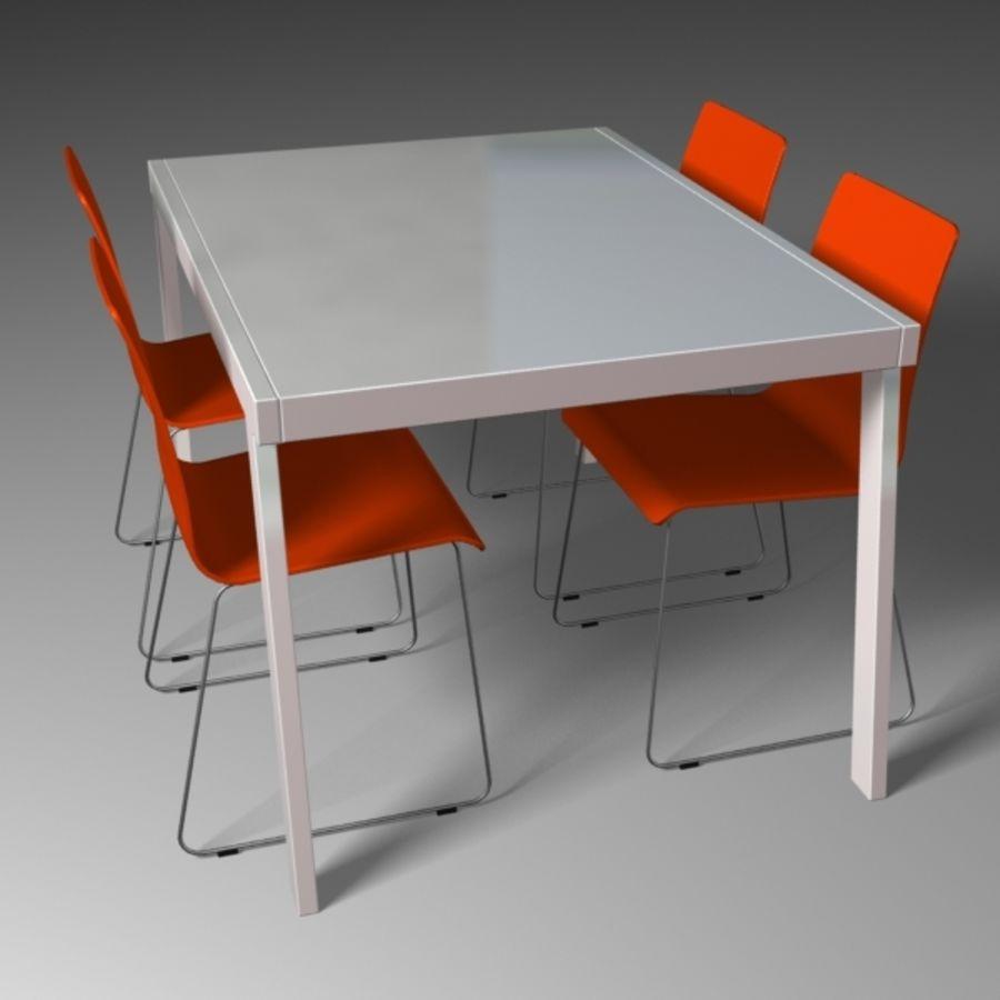 Ensemble de salle à manger contemporain modèle 3D $39 - .lwo .max ...