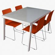 Zeitgenössisches Dining Set 3d model