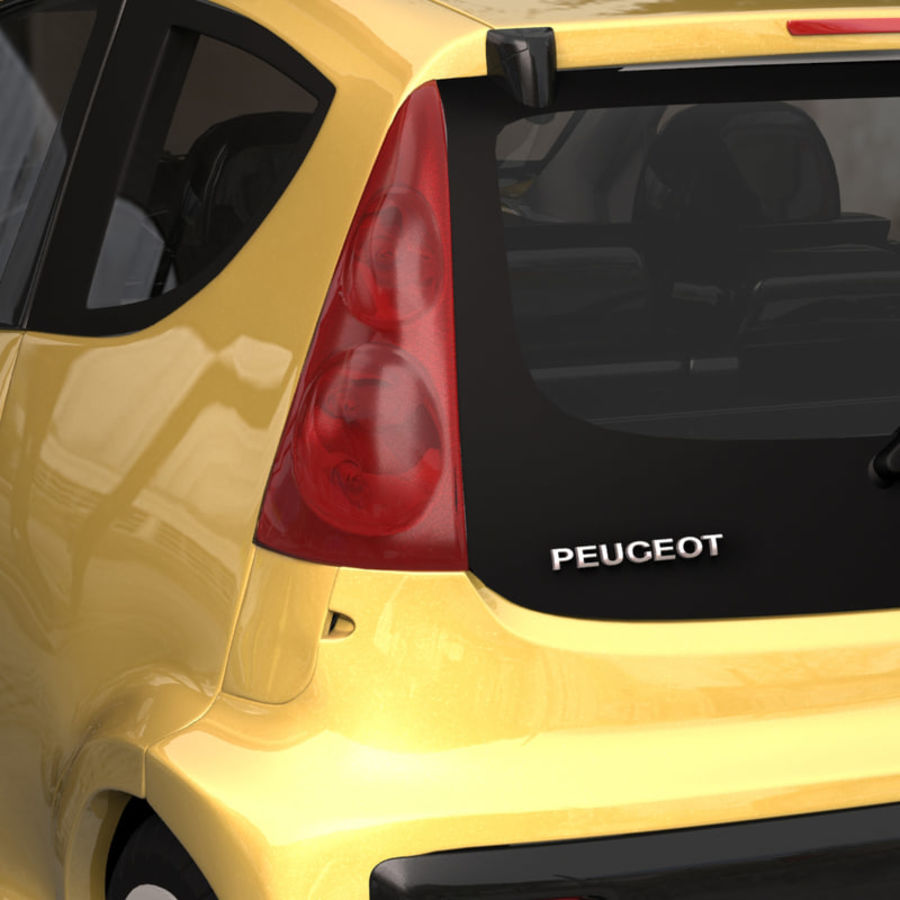 Peugeot 107 2012 royalty-free 3d model - Preview no. 4