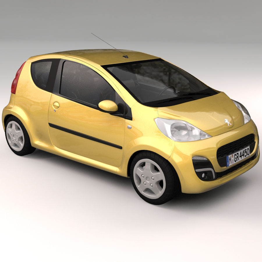 Peugeot 107 2012 royalty-free 3d model - Preview no. 7