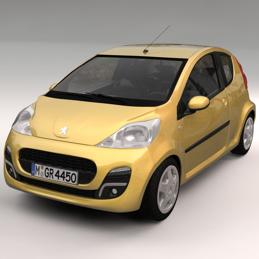 Peugeot 107 2012 royalty-free 3d model - Preview no. 1