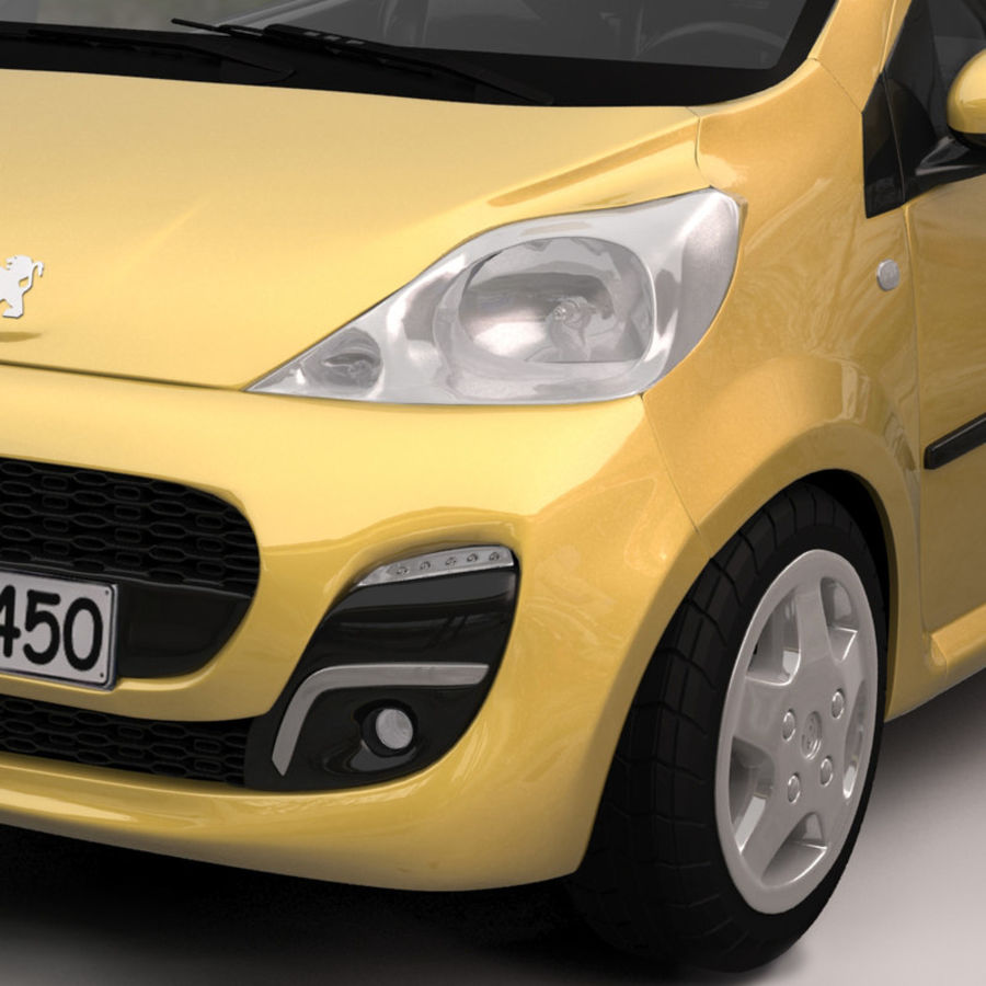 Peugeot 107 2012 royalty-free 3d model - Preview no. 6
