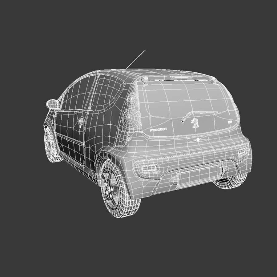 Peugeot 107 2012 royalty-free 3d model - Preview no. 12