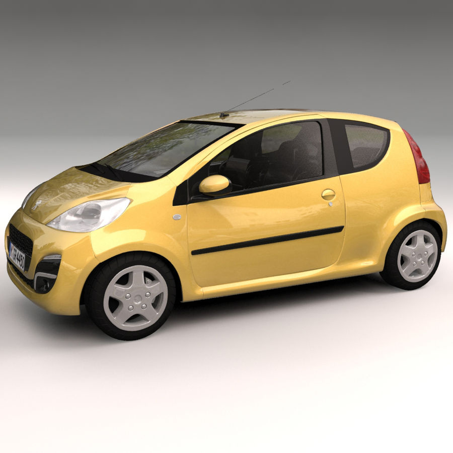 Peugeot 107 2012 royalty-free 3d model - Preview no. 3