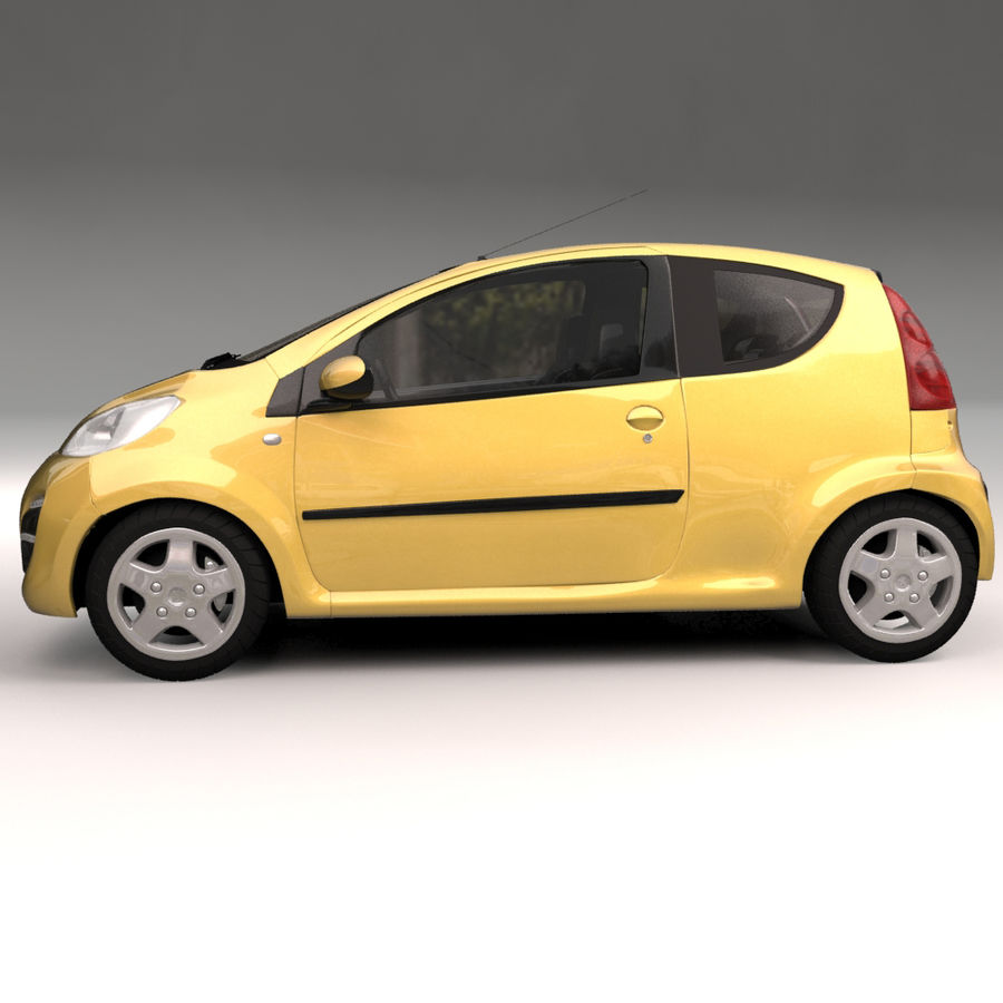Peugeot 107 2012 royalty-free 3d model - Preview no. 9