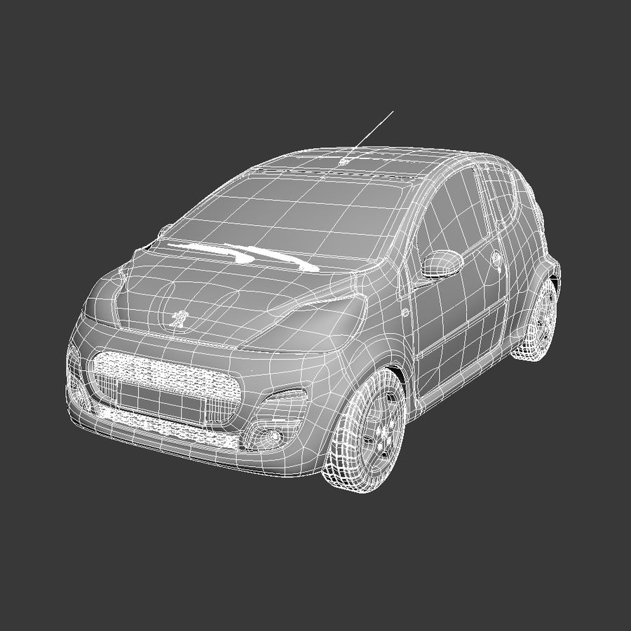 Peugeot 107 2012 royalty-free 3d model - Preview no. 11