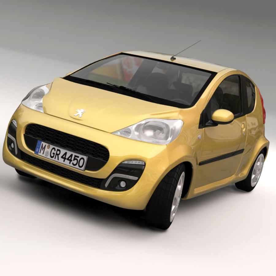 Peugeot 107 2012 royalty-free 3d model - Preview no. 10