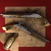Vieja pistola modelo 3d