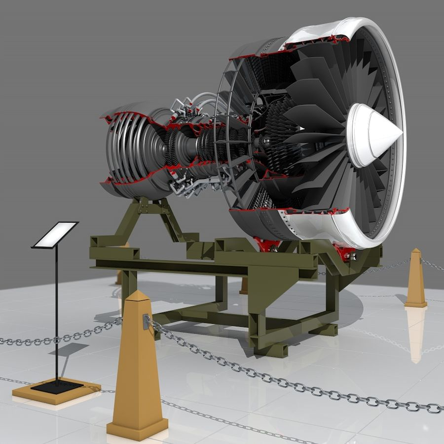 Moteur d'avion royalty-free 3d model - Preview no. 5