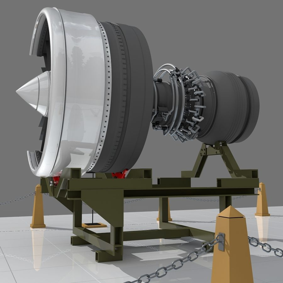 Moteur d'avion royalty-free 3d model - Preview no. 3