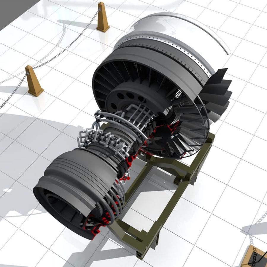 喷气发动机 royalty-free 3d model - Preview no. 4