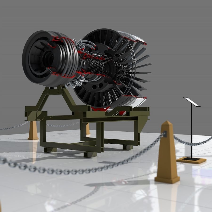 Moteur d'avion royalty-free 3d model - Preview no. 2