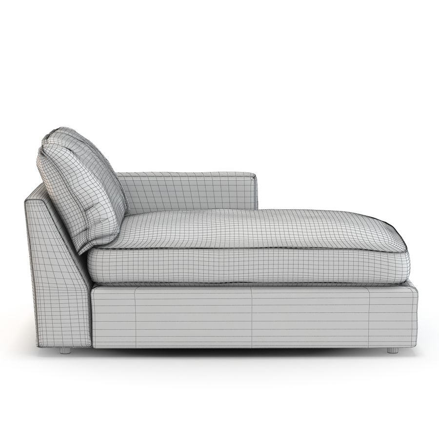 Crate And Barrel Lounge Right Arm Sectional Chaise 3d