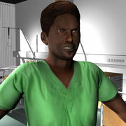 Medical Staff Male 55 3d model