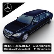 Mercedes-Benz S600 Guard Pullman 2010 3d model