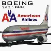 波音737美国航空公司 3d model