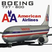 BOEING 737 AMERICAN AIRLINES 3d model