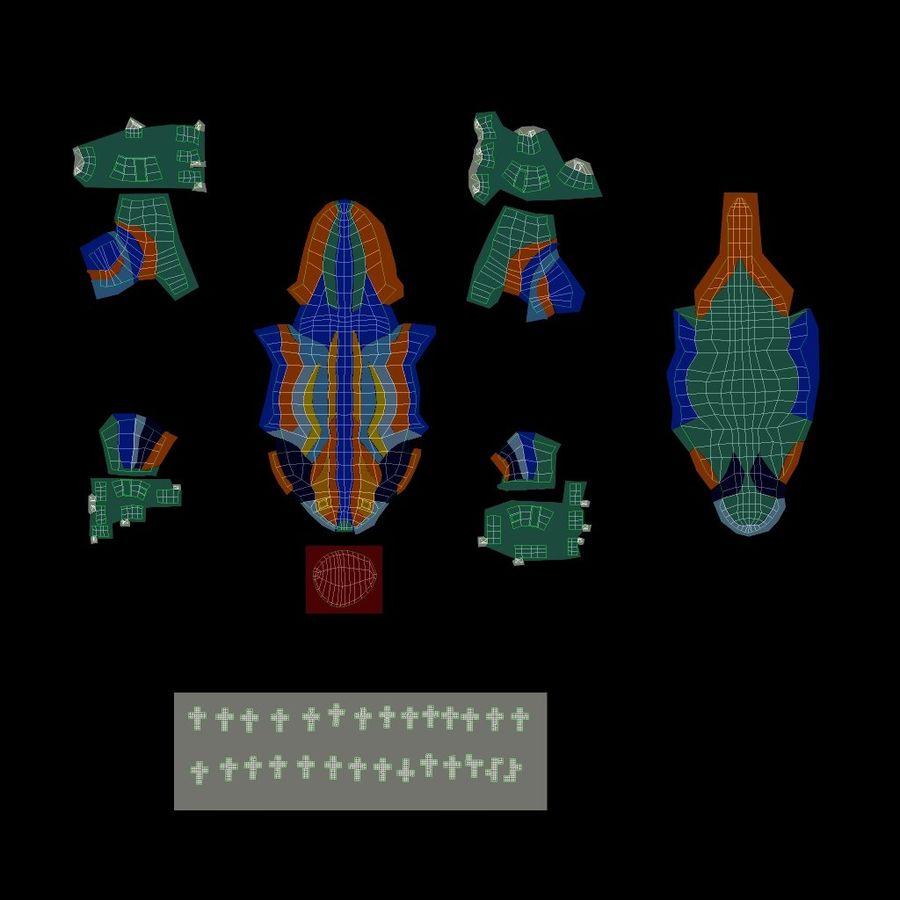 Gaudinian Dragon royalty-free 3d model - Preview no. 12
