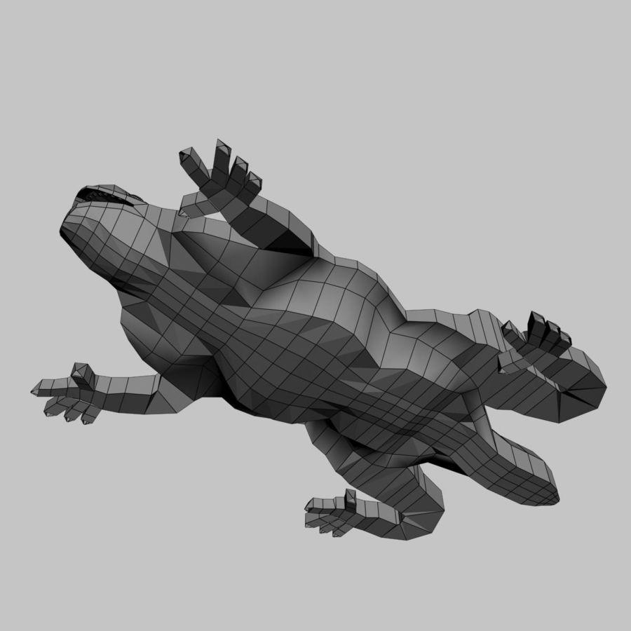 Gaudinian Dragon royalty-free 3d model - Preview no. 9