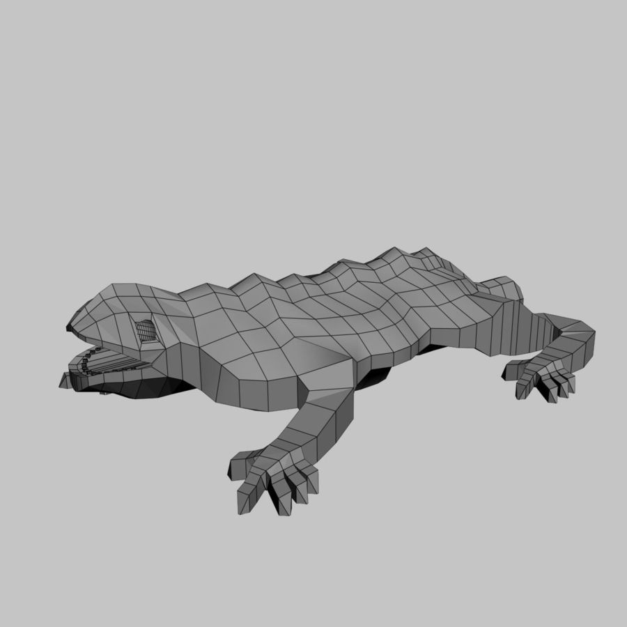 Gaudinian Dragon royalty-free 3d model - Preview no. 7