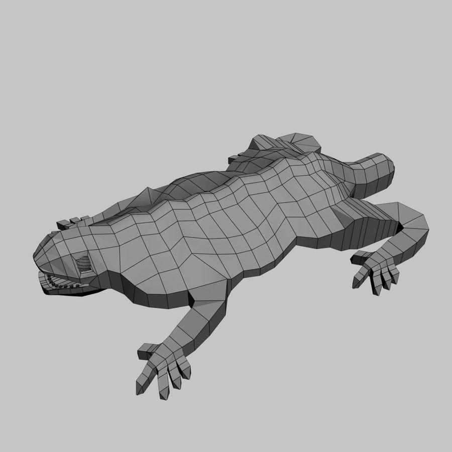 Gaudinian Dragon royalty-free 3d model - Preview no. 8