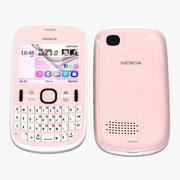 Nokia Asha 201 Pink 3d model