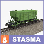 Railway hopper 3d model