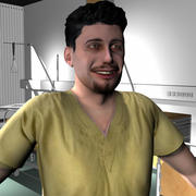 Medical Staff Male 25 3d model