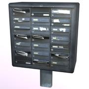 Old Mailbox 1 3d model
