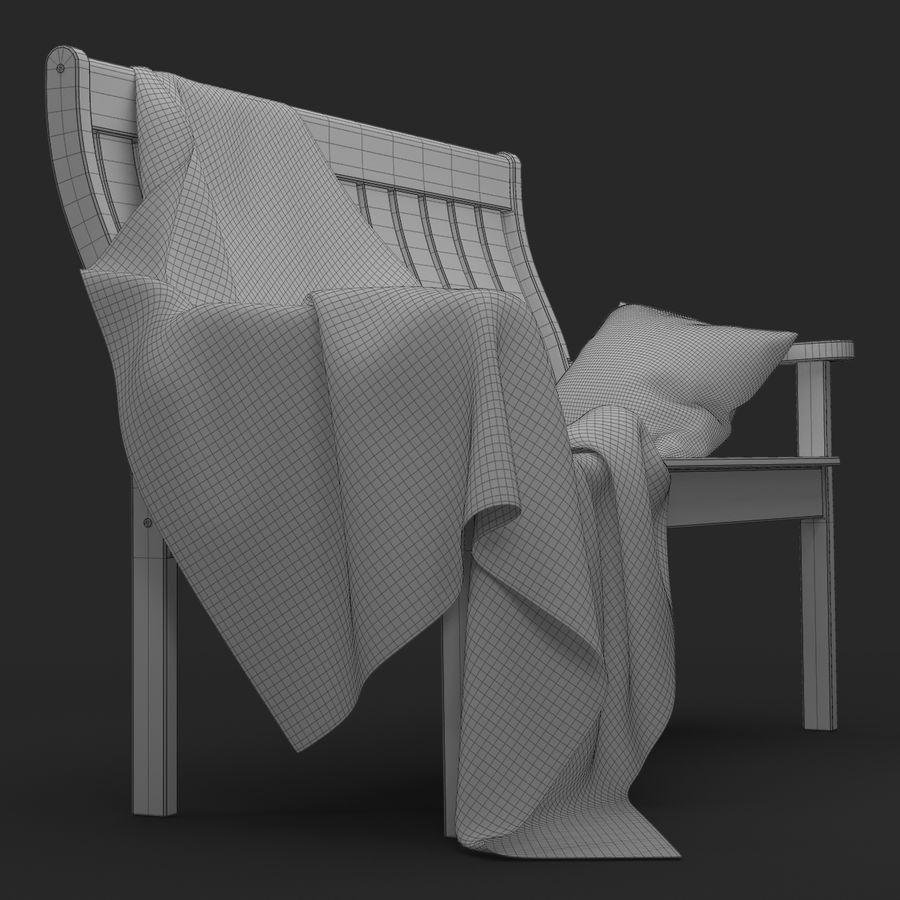 Garden Bench royalty-free 3d model - Preview no. 15