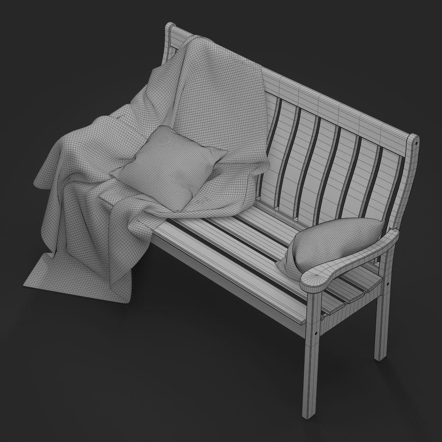 Garden Bench royalty-free 3d model - Preview no. 16