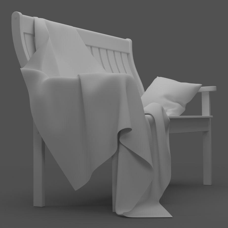 Garden Bench royalty-free 3d model - Preview no. 13