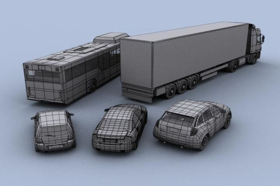 Vehicle Pack royalty-free 3d model - Preview no. 3
