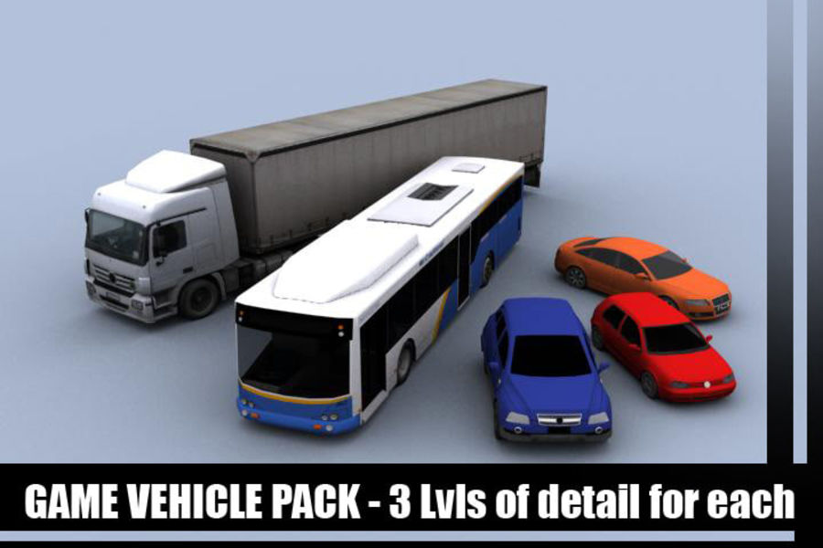 Vehicle Pack royalty-free 3d model - Preview no. 1
