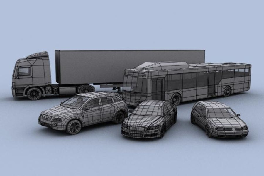 Vehicle Pack royalty-free 3d model - Preview no. 4