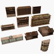 Zestaw Stojaków Drewnianych 3d model