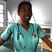 Medical Staff Female 29 3d model