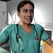 Medical Staff Male 68 3d model