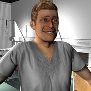 Medical Staff Male 07 3d model