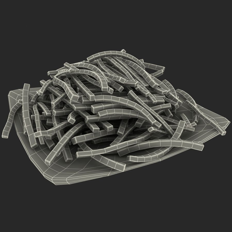 Pommes frites royalty-free 3d model - Preview no. 6