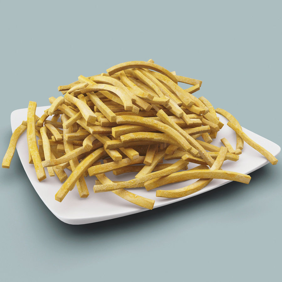 Pommes frittes royalty-free 3d model - Preview no. 2