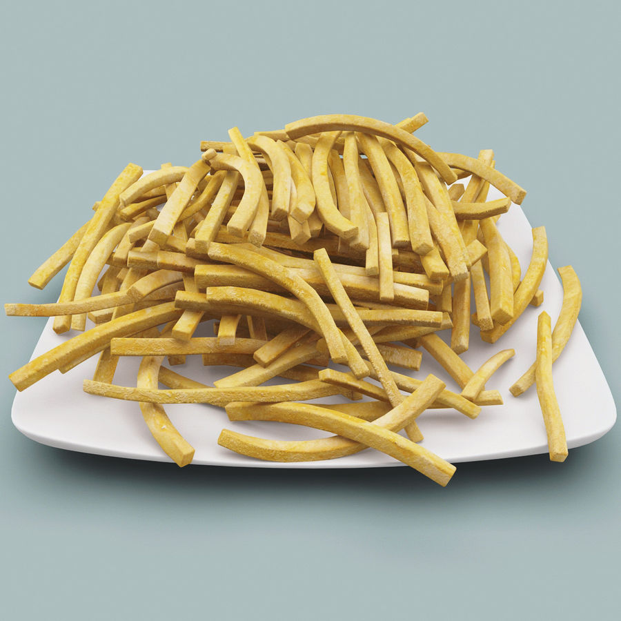Pommes frittes royalty-free 3d model - Preview no. 4