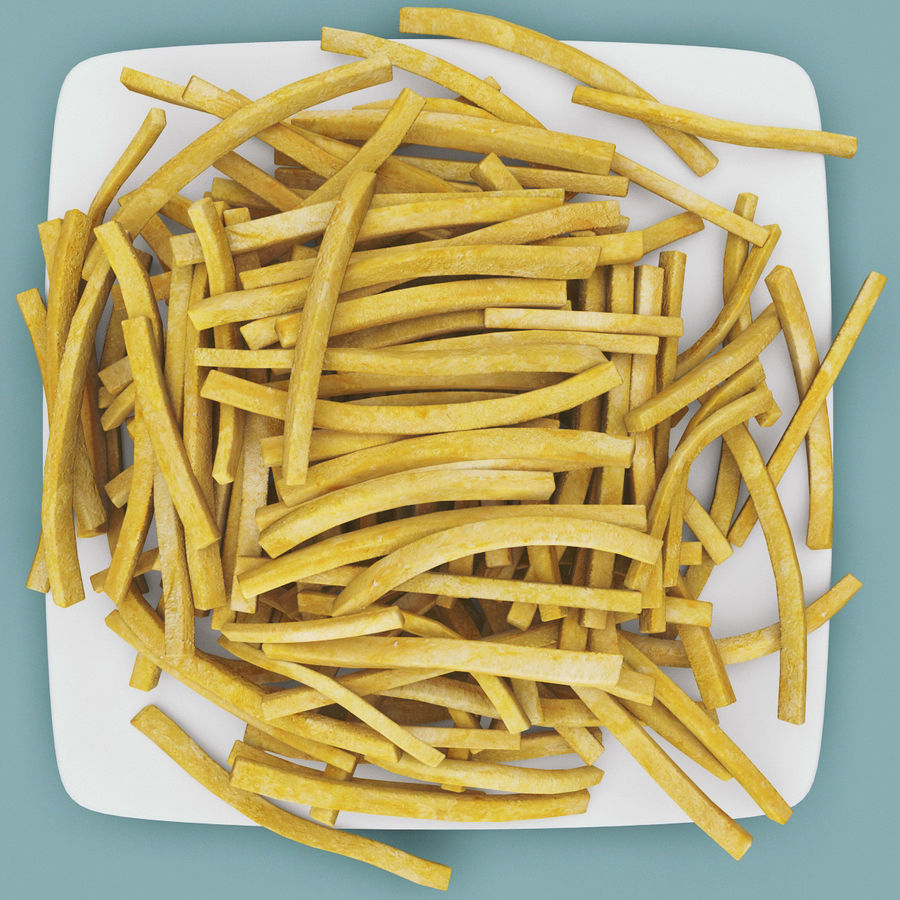 Pommes frittes royalty-free 3d model - Preview no. 5