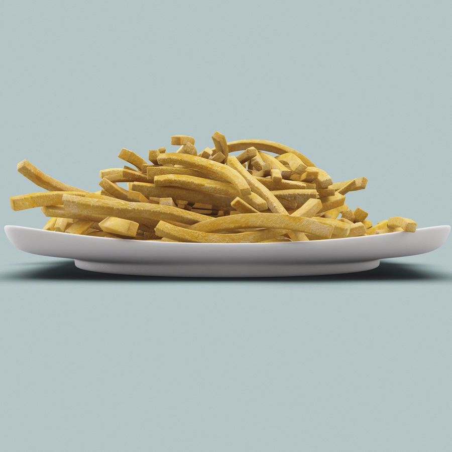 Pommes frittes royalty-free 3d model - Preview no. 3