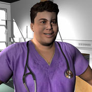 Medical Staff Male 75 3d model
