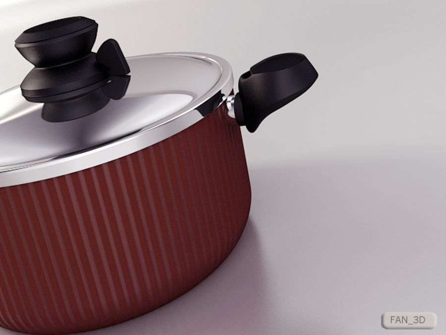 Tefal Tempo Pot royalty-free 3d model - Preview no. 2
