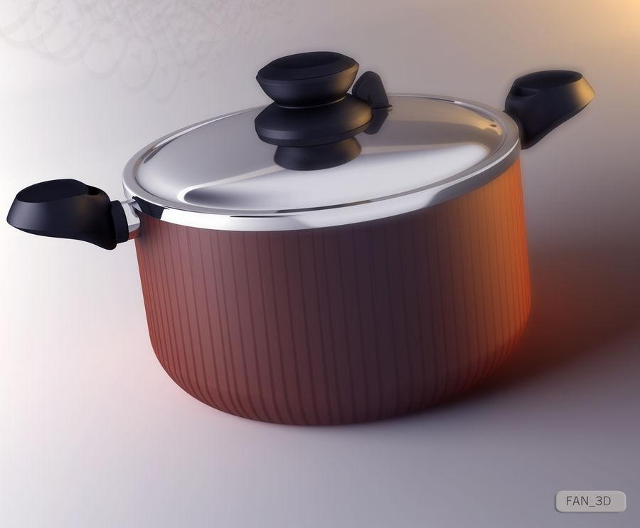 Tefal Tempo Pot royalty-free 3d model - Preview no. 4