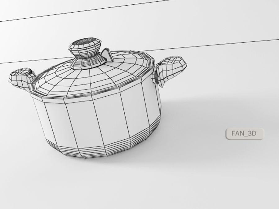 Tefal Tempo Pot royalty-free 3d model - Preview no. 3