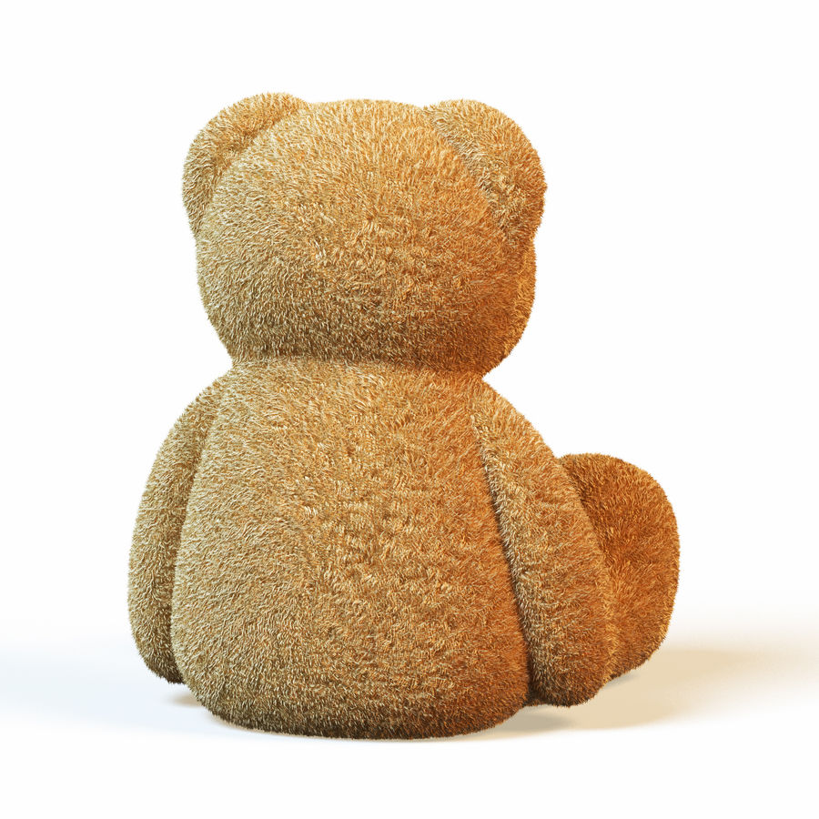 Плюшевый медведь royalty-free 3d model - Preview no. 4